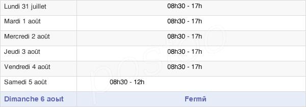 horaires d'ouverture de la Mairie De Charenton Le Pont