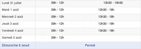 horaires d'ouverture de la Mairie De Marolles-En-Brie