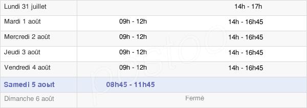 horaires d'ouverture de la Mairie D'Ormesson-Sur-Marne