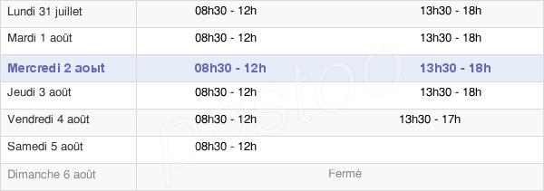 horaires d'ouverture de la Mairie De Saint-Maur-Des-Fossés