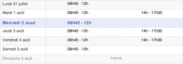 horaires d'ouverture de la Mairie De Mandres-Les-Roses