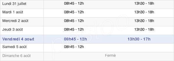 horaires d'ouverture de la Mairie De Saint-Mandé