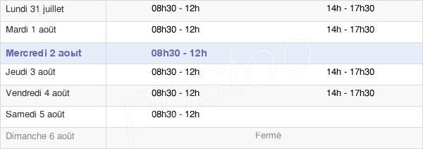 horaires d'ouverture de la Mairie De Périgny-Sur-Yerres
