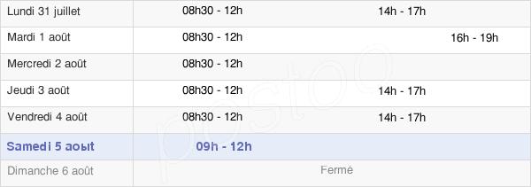 horaires d'ouverture de la Mairie De Santeny