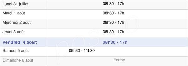 horaires d'ouverture de la Mairie De Créteil