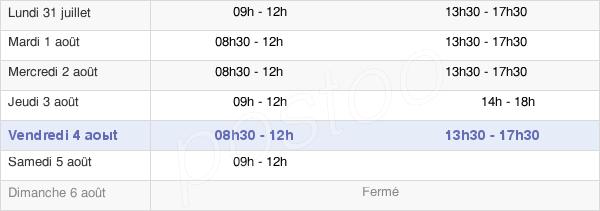horaires d'ouverture de la Mairie D'Ablon-Sur-Seine