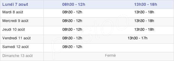 horaires d'ouverture de la Mairie De La Queue-En-Brie