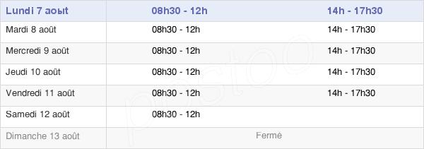 horaires d'ouverture de la Mairie D'Orly