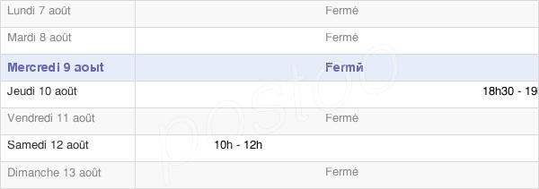 horaires d'ouverture de la Mairie D'Euffigneix