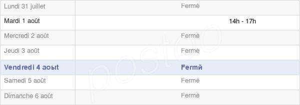 horaires d'ouverture de la Mairie De Sommerécourt
