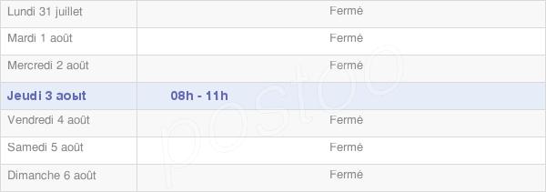 horaires d'ouverture de la Mairie De Colmier Le Haut