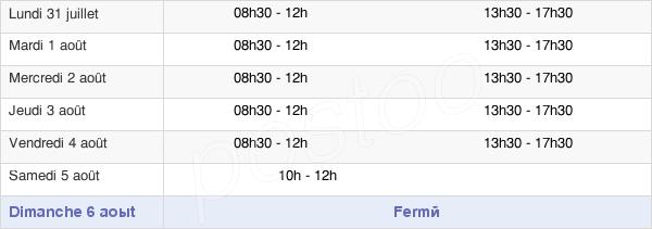 horaires d'ouverture de la Mairie De Mers-Les-Bains
