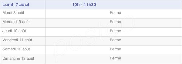 horaires d'ouverture de la Mairie De Consigny