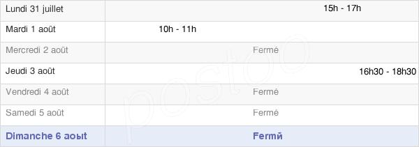 horaires d'ouverture de la Mairie De Voillecomte