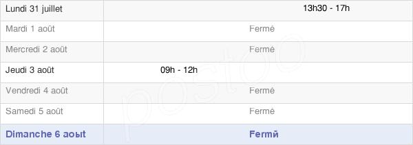 horaires d'ouverture de la Mairie De Saint-Loup-Sur-Aujon