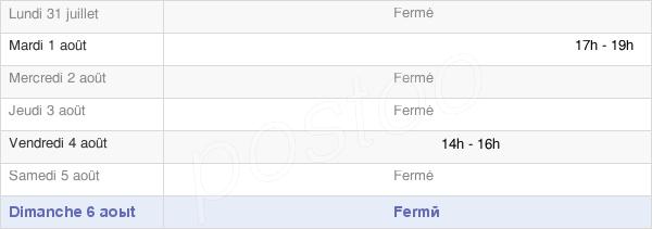 horaires d'ouverture de la Mairie De Balesmes-Sur-Marne