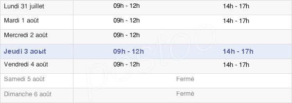 horaires d'ouverture de la Mairie De Bourmont