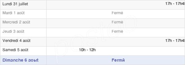 horaires d'ouverture de la Mairie De Neuilly-Sur-Suize
