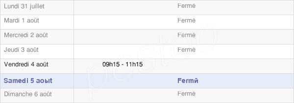 horaires d'ouverture de la Mairie De Longchamp-Les-Millières