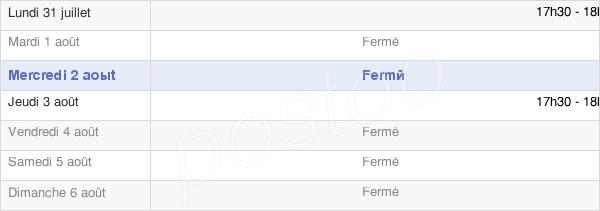horaires d'ouverture de la Mairie De Mandres-La-Côte