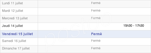 horaires d'ouverture de la Mairie De Trémilly