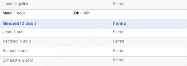 horaires d'ouverture de la Mairie De Ternat