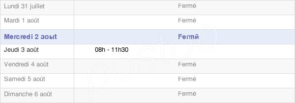 horaires d'ouverture de la Mairie D'Ozières