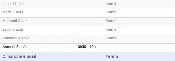 horaires d'ouverture de la Mairie De Buxières-Lès-Clefmont
