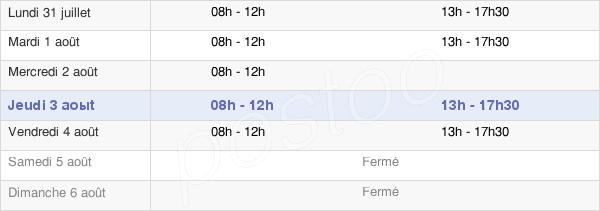 horaires d'ouverture de la Mairie De Viéville