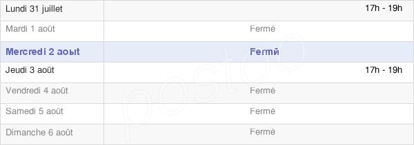horaires d'ouverture de la Mairie De Lamotte-Warfusée