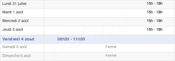 horaires d'ouverture de la Mairie D'Andelot-Blancheville