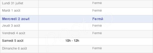 horaires d'ouverture de la Mairie De Frampas