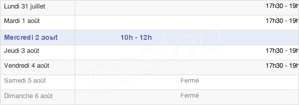 horaires d'ouverture de la Mairie De Miraumont