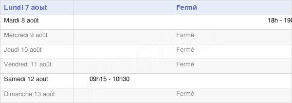 horaires d'ouverture de la Mairie De Esclainvillers