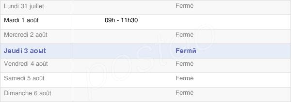 horaires d'ouverture de la Mairie De Rouvres-Sur-Aube