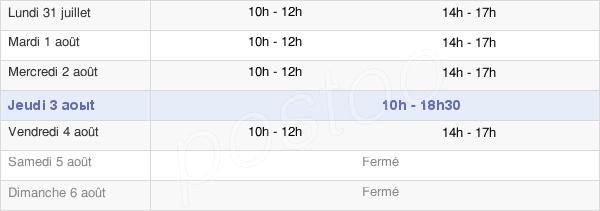 horaires d'ouverture de la Mairie De Saleux