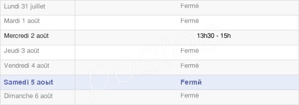 horaires d'ouverture de la Mairie D'Ecot-La-Combe