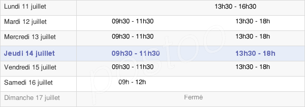 horaires d'ouverture de la Mairie De Bettancourt-La-Ferrée