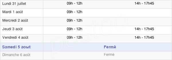 horaires d'ouverture de la Mairie De Roches-Bettaincourt