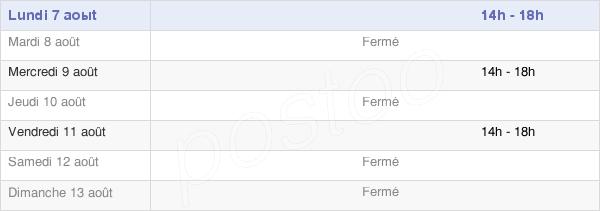 horaires d'ouverture de la Mairie De Serqueux