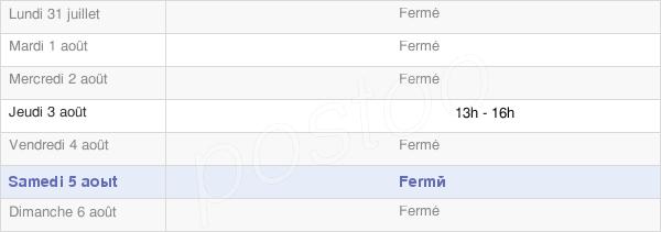 horaires d'ouverture de la Mairie De Marac