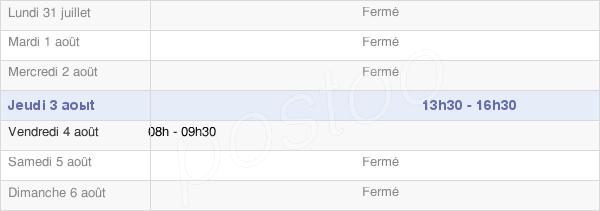 horaires d'ouverture de la Mairie D'Avrecourt