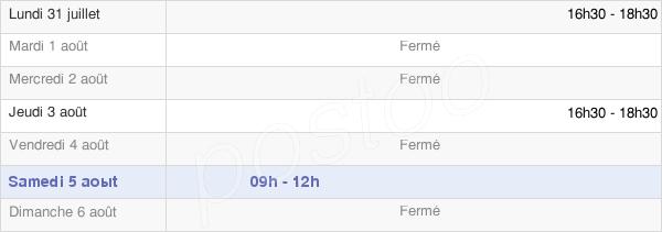 horaires d'ouverture de la Mairie De Droyes
