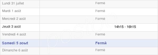 horaires d'ouverture de la Mairie De Forcey