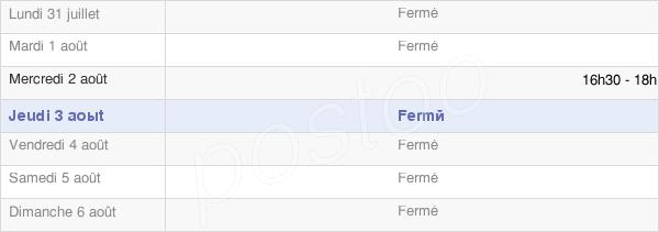 horaires d'ouverture de la Mairie De Foucaucourt-Hors-Nesle