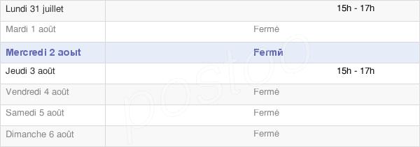 horaires d'ouverture de la Mairie De Mertrud