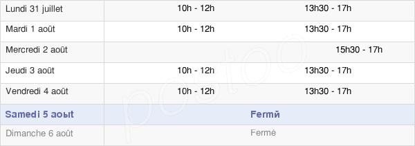 horaires d'ouverture de la Mairie De Saint-Paul-En-Forêt