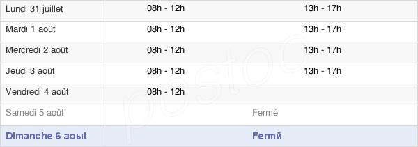 horaires d'ouverture de la Mairie De Cavalaire Sur Mer
