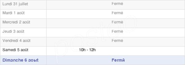 horaires d'ouverture de la Mairie De Tourves