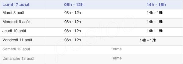 horaires d'ouverture de la Mairie Du Val